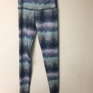 Rese blue and white snake skin printed leggings XS